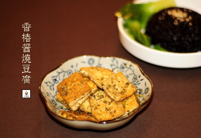 香椿酱烧豆腐( Braised Firm Tofu with Toona Sinensis Sauce)的做法